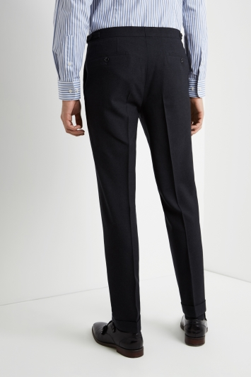 Ermenegildo Zegna Cloth Tailored Fit Charcoal Wool Trousers