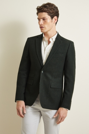 Moss London Slim Fit Khaki Donegal Jacket