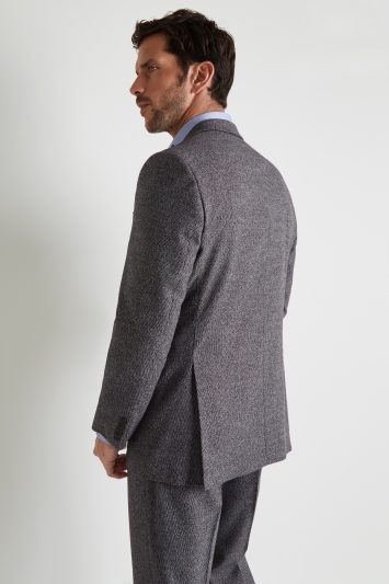 Moss Esq. Regular Fit Charcoal Puppytooth Jacket