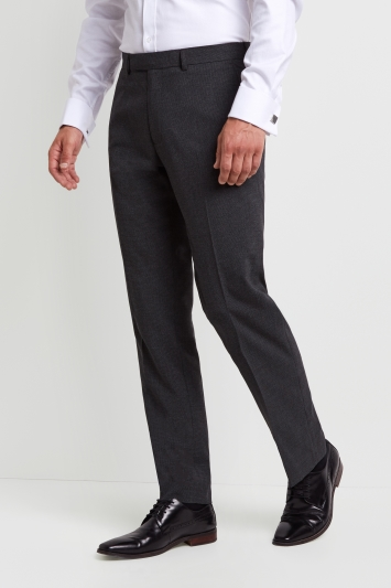 Moss Esquire Regular Fit Machine Washable Grey Fleck Puppytooth Trousers