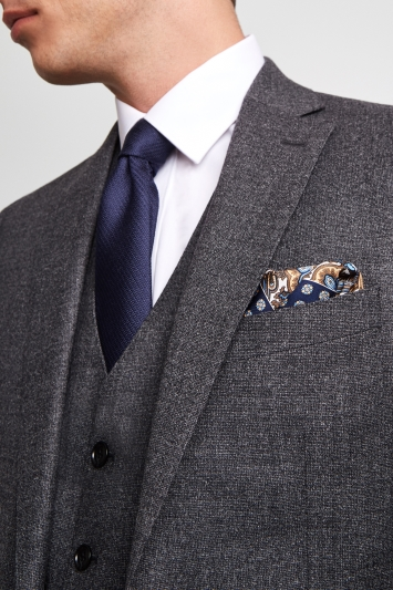 Moss 1851 Performance Tailored Fit Slate Grey Milled Jacket