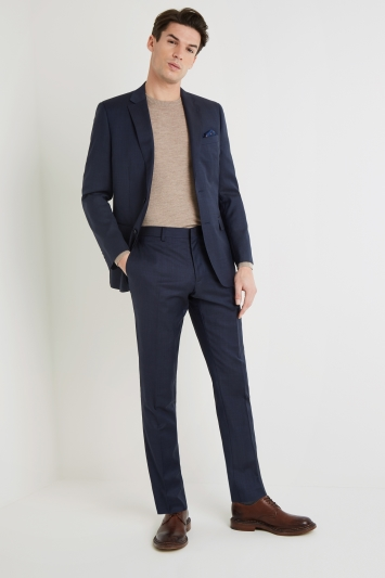 Moss 1851 Tailored Fit Indigo Semi Plain Jacket