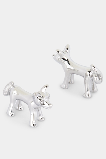 Moss 1851 Silver Fox Threaded Cufflink