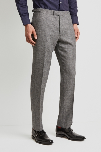 Hardy Amies Tailored Fit Black and White Texture Trouser