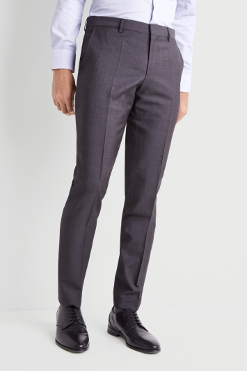 HUGO by Hugo Boss Grey Pindot Trousers