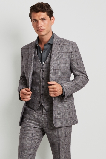 Moss 1851 Tailored Fit Prince of Wales Check Jacket