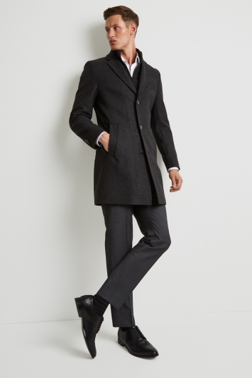 HUGO by Hugo Boss Tailored Fit Charcoal Detch Insert Coat