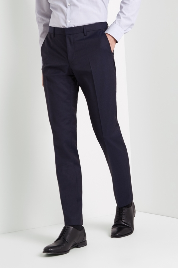 HUGO by Hugo Boss Navy Micro Trousers