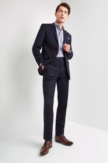 Ted Baker Performance Tailored Fit Plain Navy Jacket