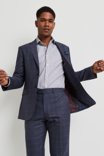 Ted Baker Performance Tailored Fit Blue Grey Check Jacket