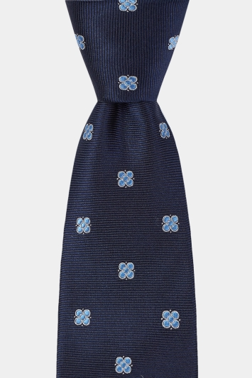 DKNY Navy Twill with Medallion Tie