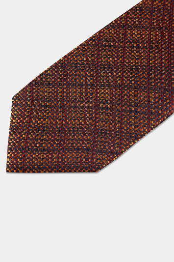 Moss London Bronze Crosshatch Tie
