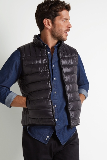 Moss 1851 Tailored Fit Black Gilet