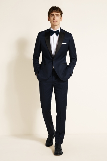Moss 1851 Tailored Fit Navy Twill Dress Jacket
