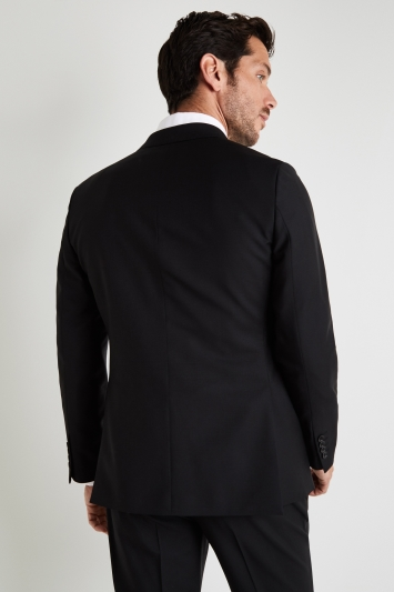 Vitale Barberis Canonico Tailored Fit Black Wool Mohair Jacket