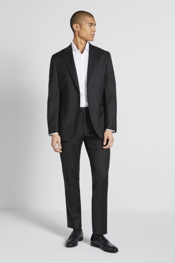 Lanificio F.lli Cerruti Dal 1881 Tailored Fit Black Jacket