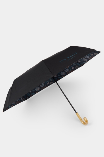 Ted Baker Black Downpour Umbrella