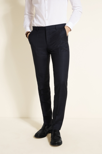 HUGO by Hugo Boss Navy Shadow Check Trousers