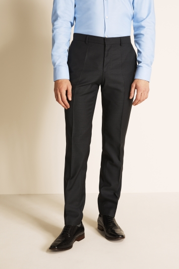HUGO by Hugo Boss Charcoal Cont Basket Weave Trousers