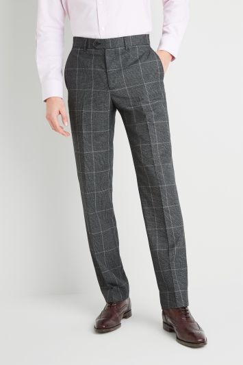 Moss Esq. Regular Fit Bold Prince of Wales Check Trousers
