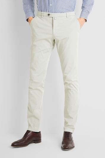 Savoy Taylors Guild Tailored Fit Mid White Chinos