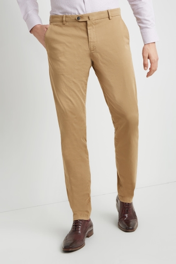 a57e04855c Savoy Taylors Guild Tailored Fit Tan chinos