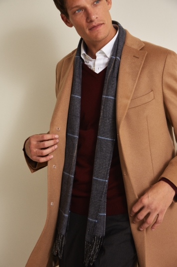 STG Tailored Fit Camel Cashmere Coat