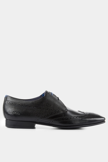 Ted Baker Dervin Black Comfort Brogue Derby Shoe
