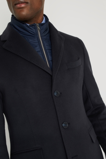 Savoy Taylors Guild Tailored Fit Navy with Nylon Insert Coat