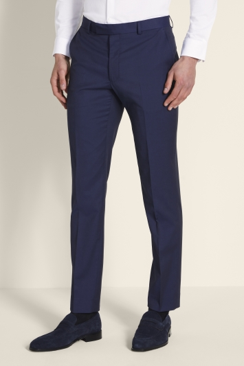Moss London Skinny Fit Ink Stretch Trousers