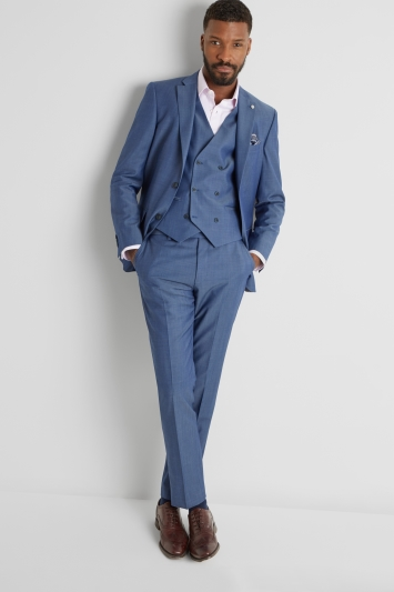 Ted Baker Tailored Fit Faded Blue Twill Jacket