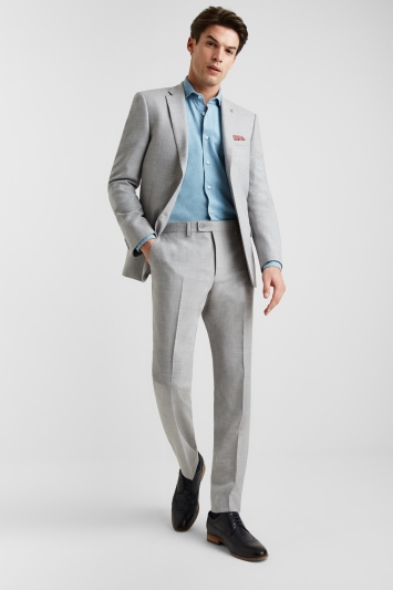 Ted Baker Tailored Fit Light Grey Crepe Jacket