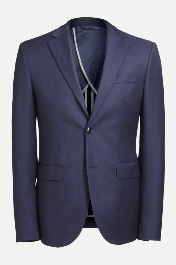 DKNY Slim Fit Navy Panama Openweave Jacket