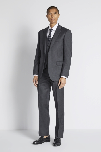 Savoy Taylors Guild Regular Fit Charcoal Twill Jacket