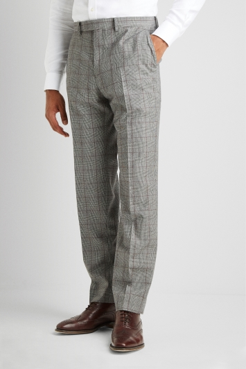 Savoy Taylors Guild Regular Fit Heritage Check Trousers