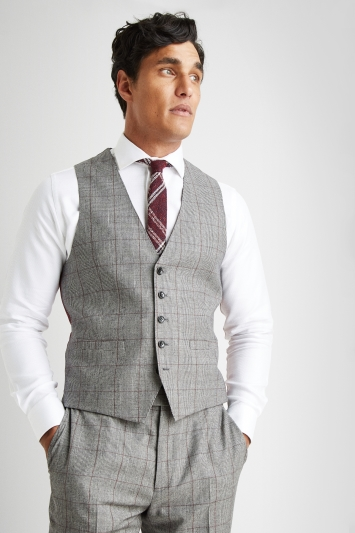 Savoy Taylors Guild Regular Fit Heritage Check Waistcoat