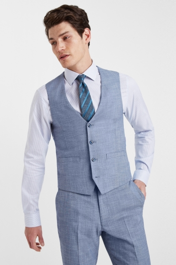 French Connection Slim Fit Denim Waistcoat