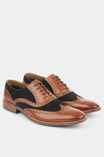 Moss London Benson Brown Contrast Oxford
