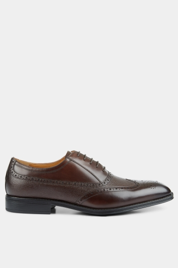 John White Idaho Brown Performance Wingtip Brogue Shoe