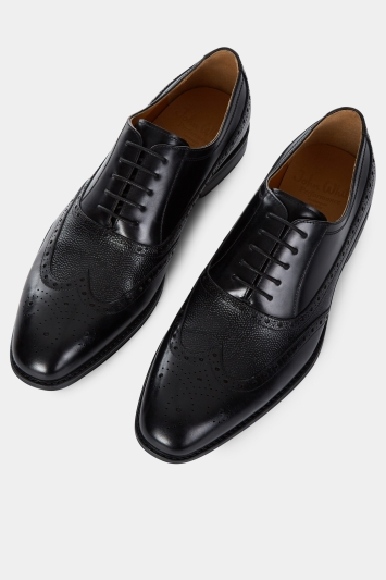 John White Idaho Black Performance Wingtip Brogue Shoe