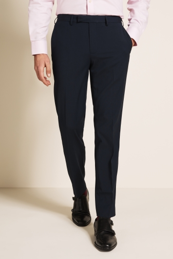 Moss 1851 Tailored Fit Blue Trousers
