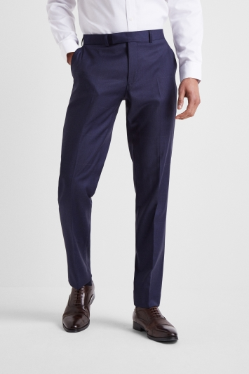 Moss 1851 Tailored Fit Subtle Blue CheckTrousers
