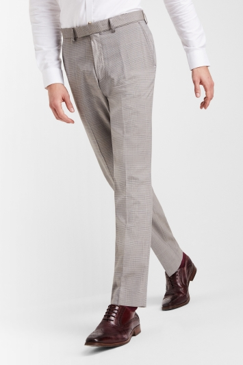 Moss Esq. Regular Fit Grey Prince Of Wales Check Trousers