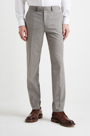 Moss 1851 Tailored Fit Grey POW Check Trousers