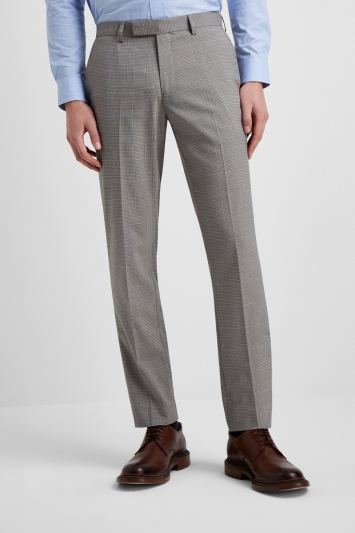 6a661d45b Moss London Slim Fit Grey Prince Of Wales Check Trousers