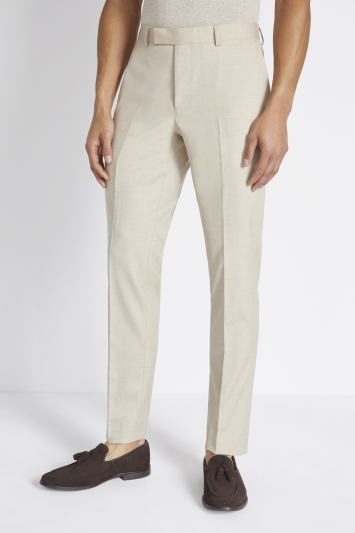 Moss London Slim Fit Latte Trousers