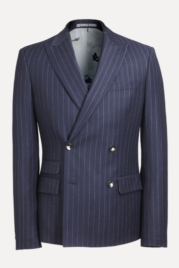 Scott Navy Stripe Extra Tall Suit