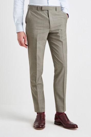 French Connection Slim Fit Sage Marl Trousers