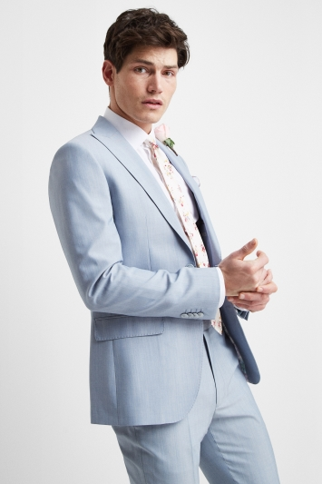 French Connection Powder Blue Marl Slim Fit Jacket