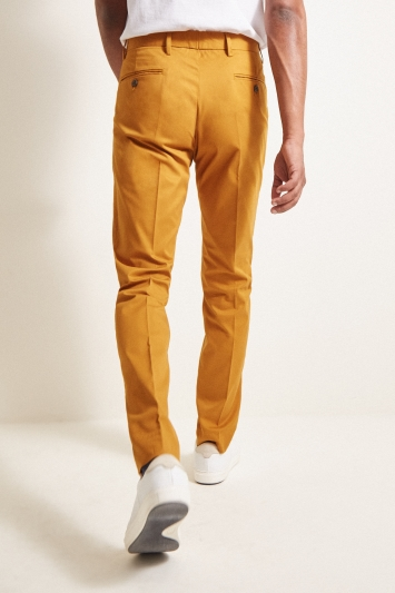 Moss London Slim Fit Mustard Stretch Chino